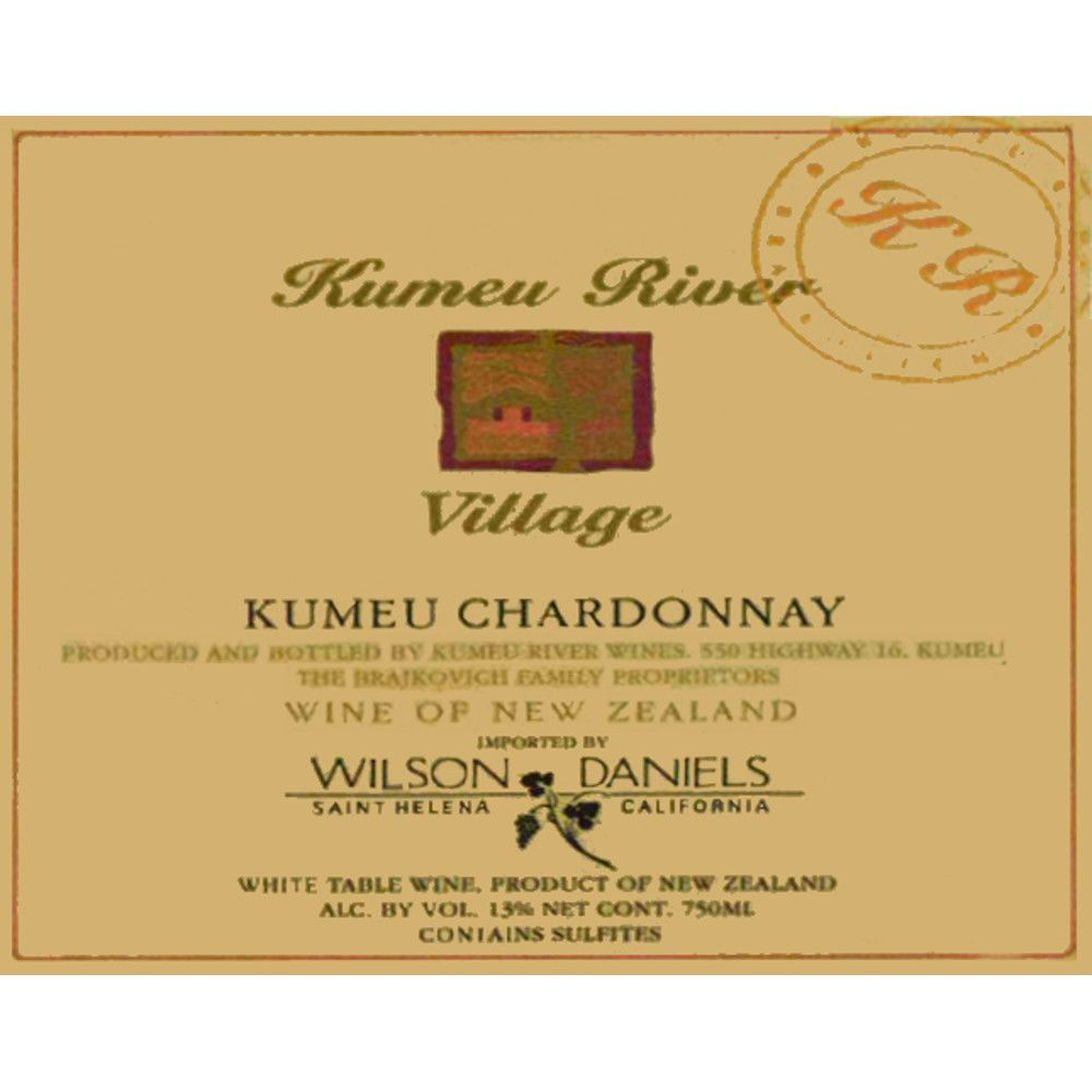 Kumeu River Village Chardonnay 2005 Front Label