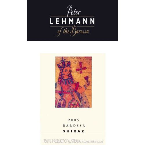 Peter Lehmann Shiraz 2005 Front Label