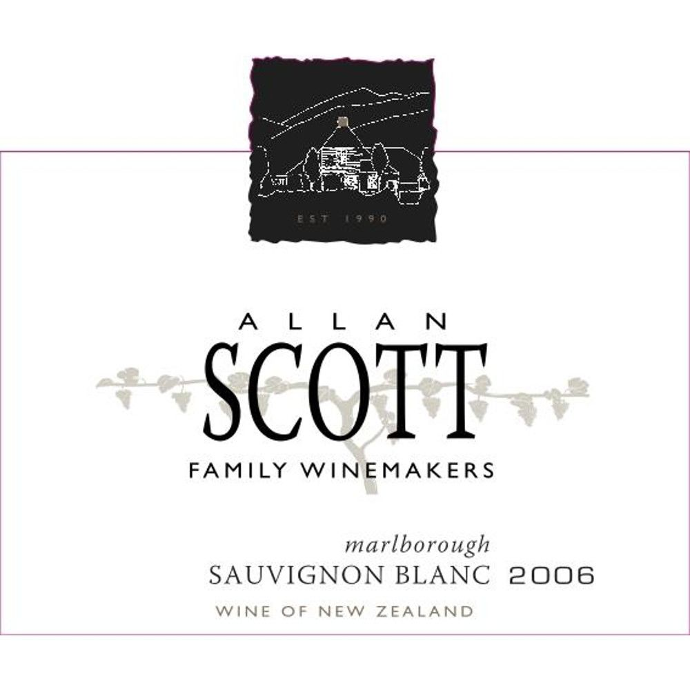 Allan Scott Marlborough Sauvignon Blanc 2006 Front Label