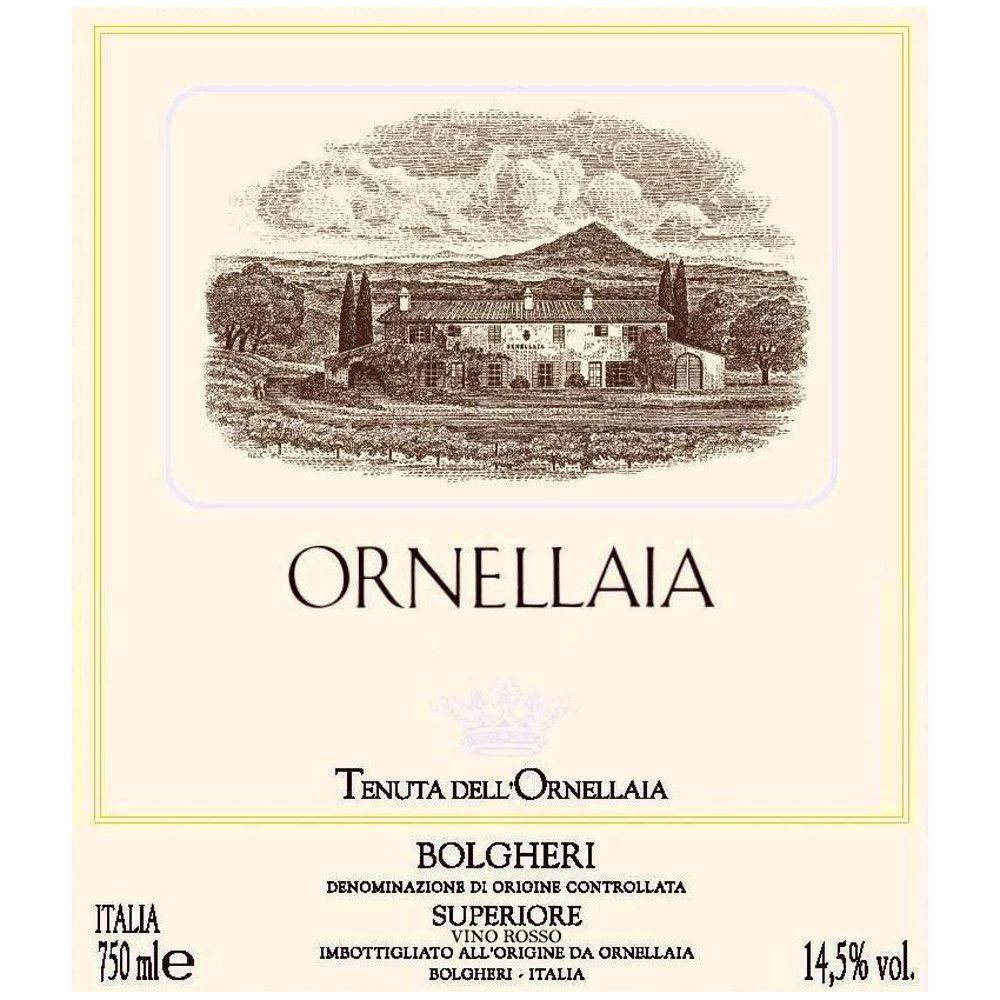 Ornellaia  2004 Front Label