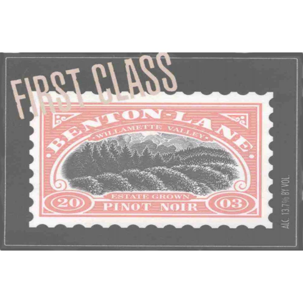 Benton Lane First Class Pinot Noir 2005 Front Label