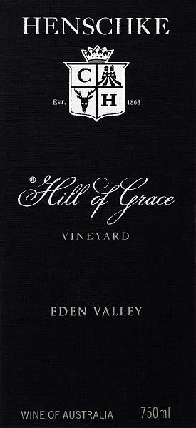 Henschke Hill of Grace Shiraz 2003 Front Label