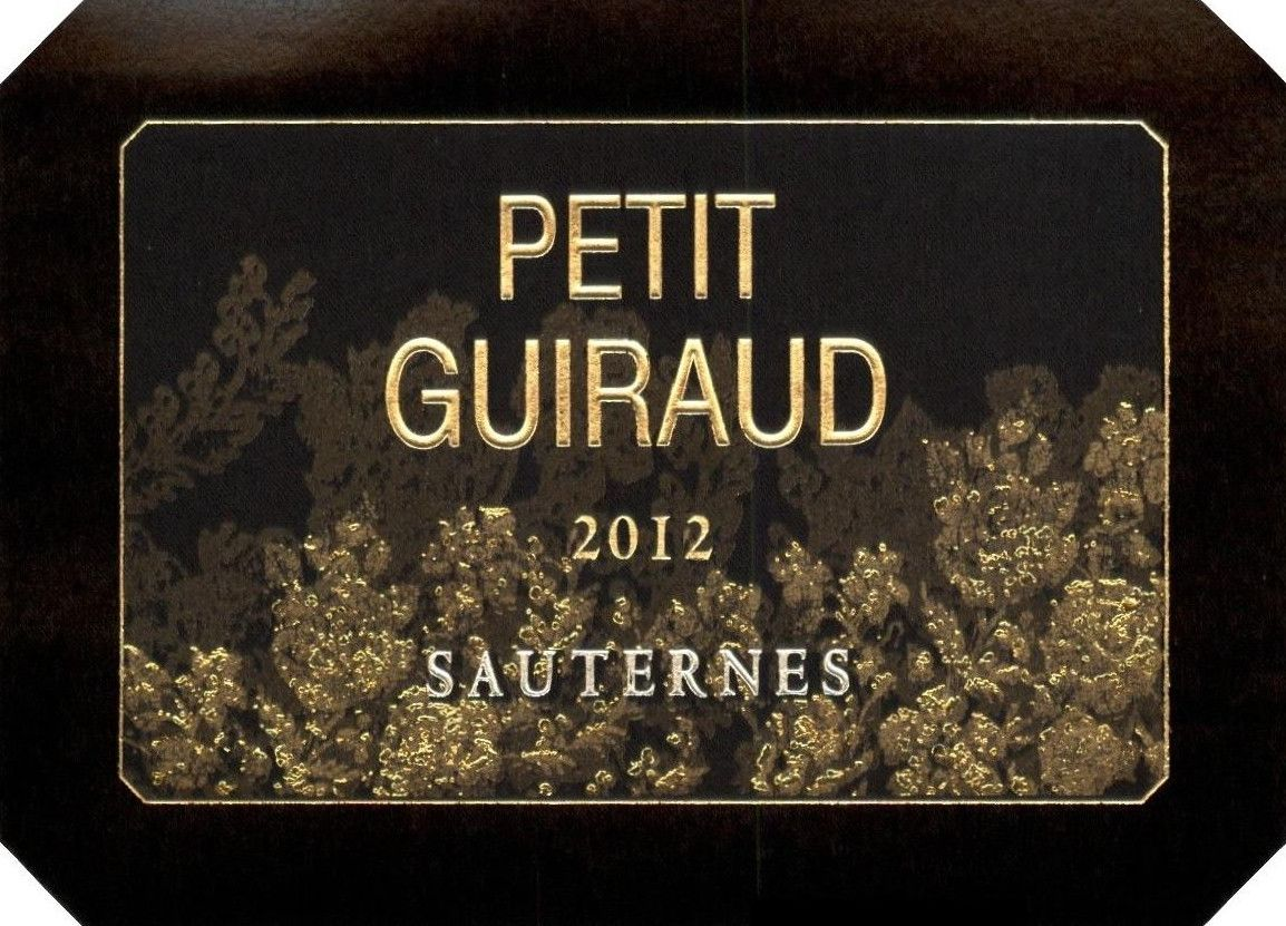 Chateau Guiraud Petit Guiraud Sauternes 2012 Front Label