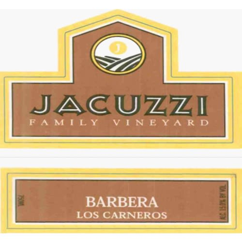 Jacuzzi Barbera 2005 Front Label