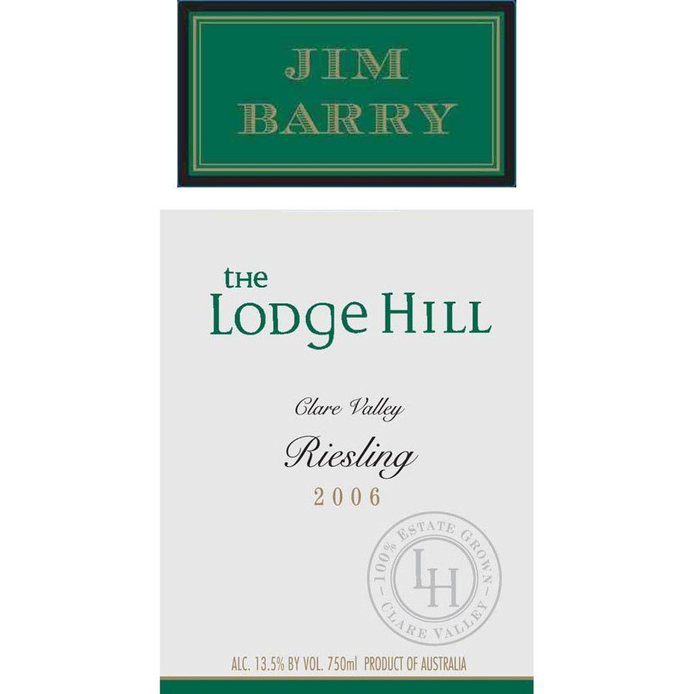 Jim Barry Lodge Hill Riesling 2006 Front Label