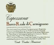 Capezzana Barco Reale 2004 Front Label