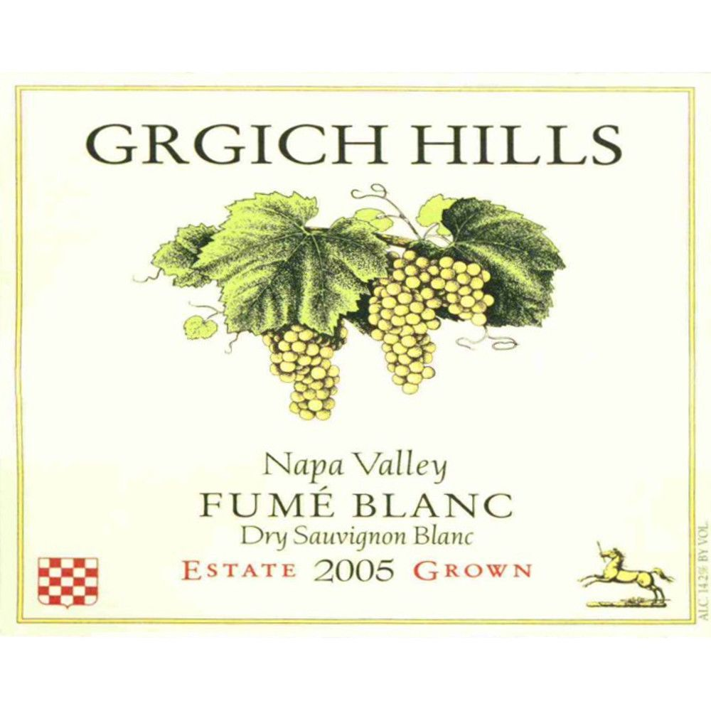 Grgich Hills Estate Fume Blanc (375ML half-bottle) 2005 Front Label