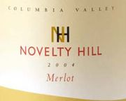 Novelty Hill Merlot 2004 Front Label