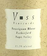 Voss Vineyards Napa Valley Sauvignon Blanc 2006 Front Label