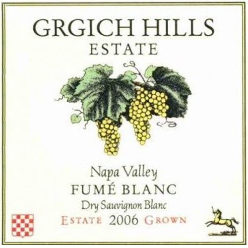 Grgich Hills Estate Fume Blanc 2006 Front Label
