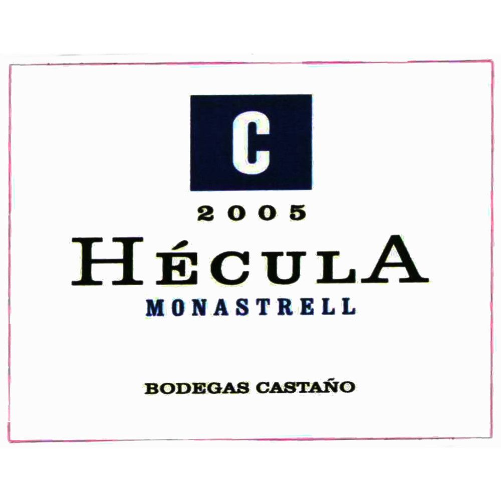 Bodegas Castano Hecula 2005 Front Label