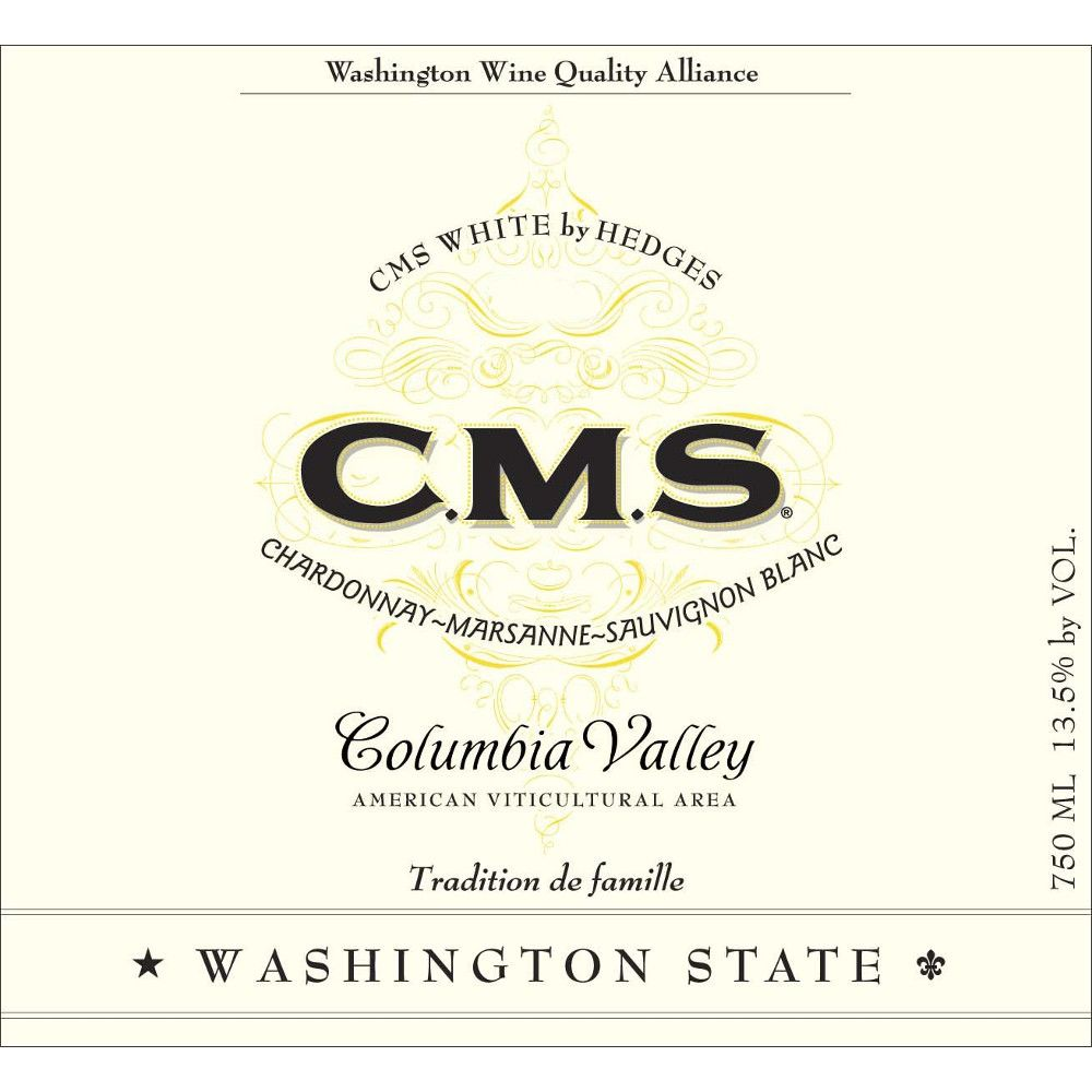 Hedges Family Estate CMS White 2006 Front Label