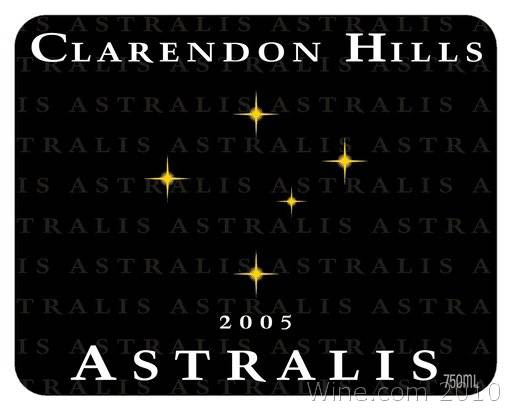 Clarendon Hills Astralis Syrah 2005 Front Label