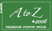 A to Z Pinot Noir 2006 Front Label