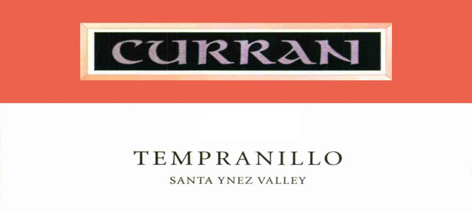 Curran Santa Ynez Valley Tempranillo 2007  Front Label