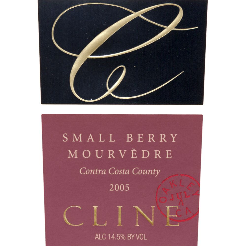 Cline Small Berry Mourvedre 2005 Front Label
