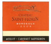 Chateau Saint-Florin Bordeaux Rouge 2004 Front Label