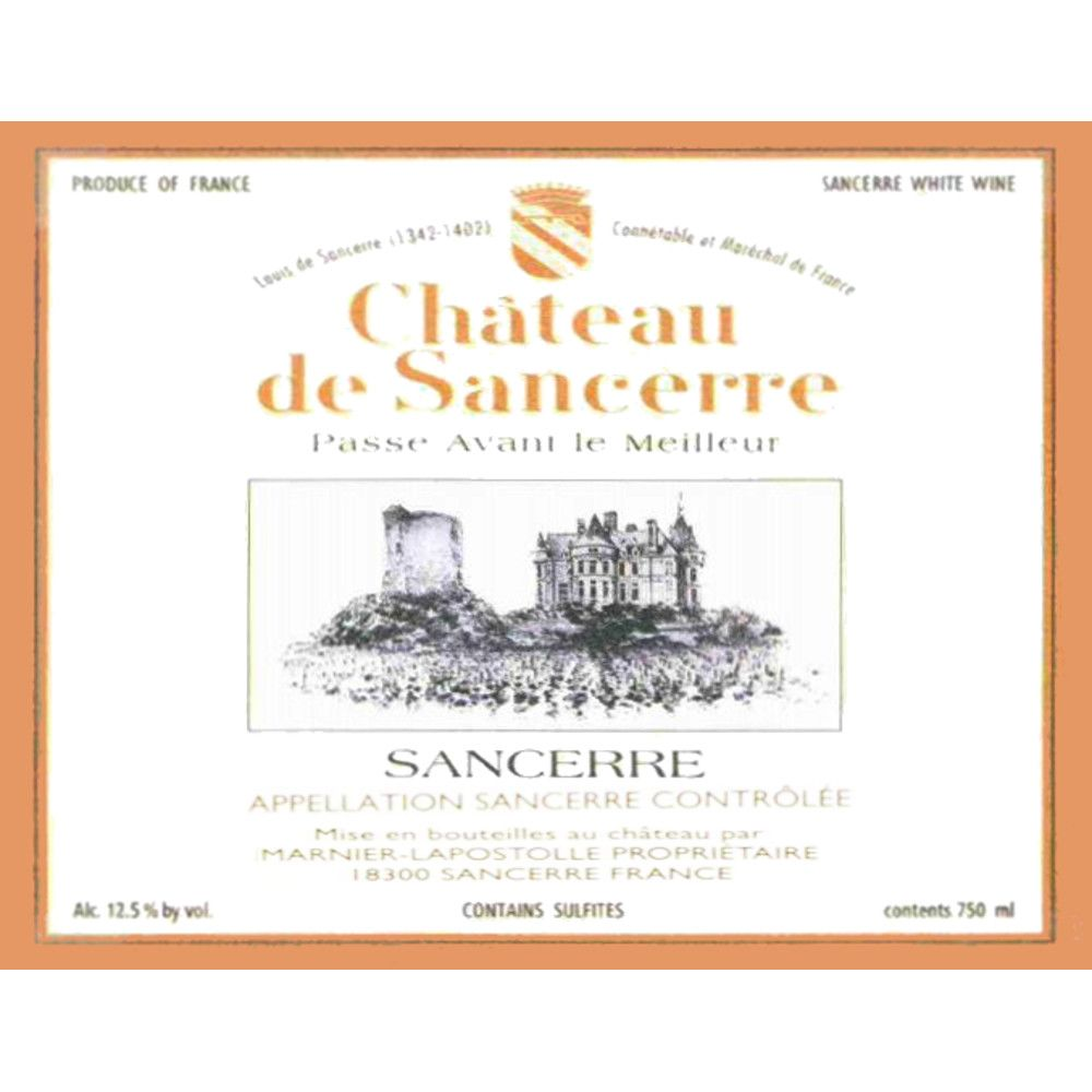 Chateau de Sancerre Blanc 2006 Front Label