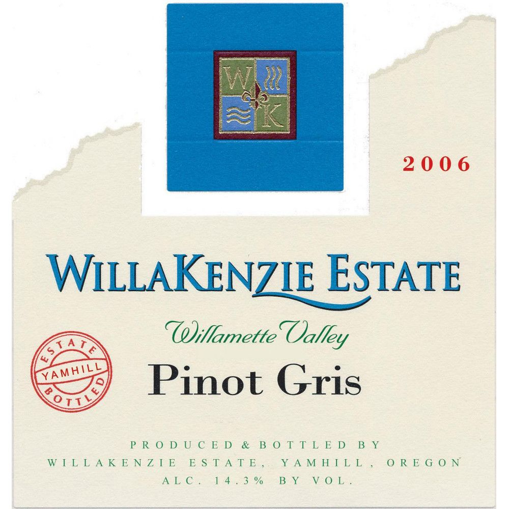WillaKenzie Estate Pinot Gris 2006 Front Label