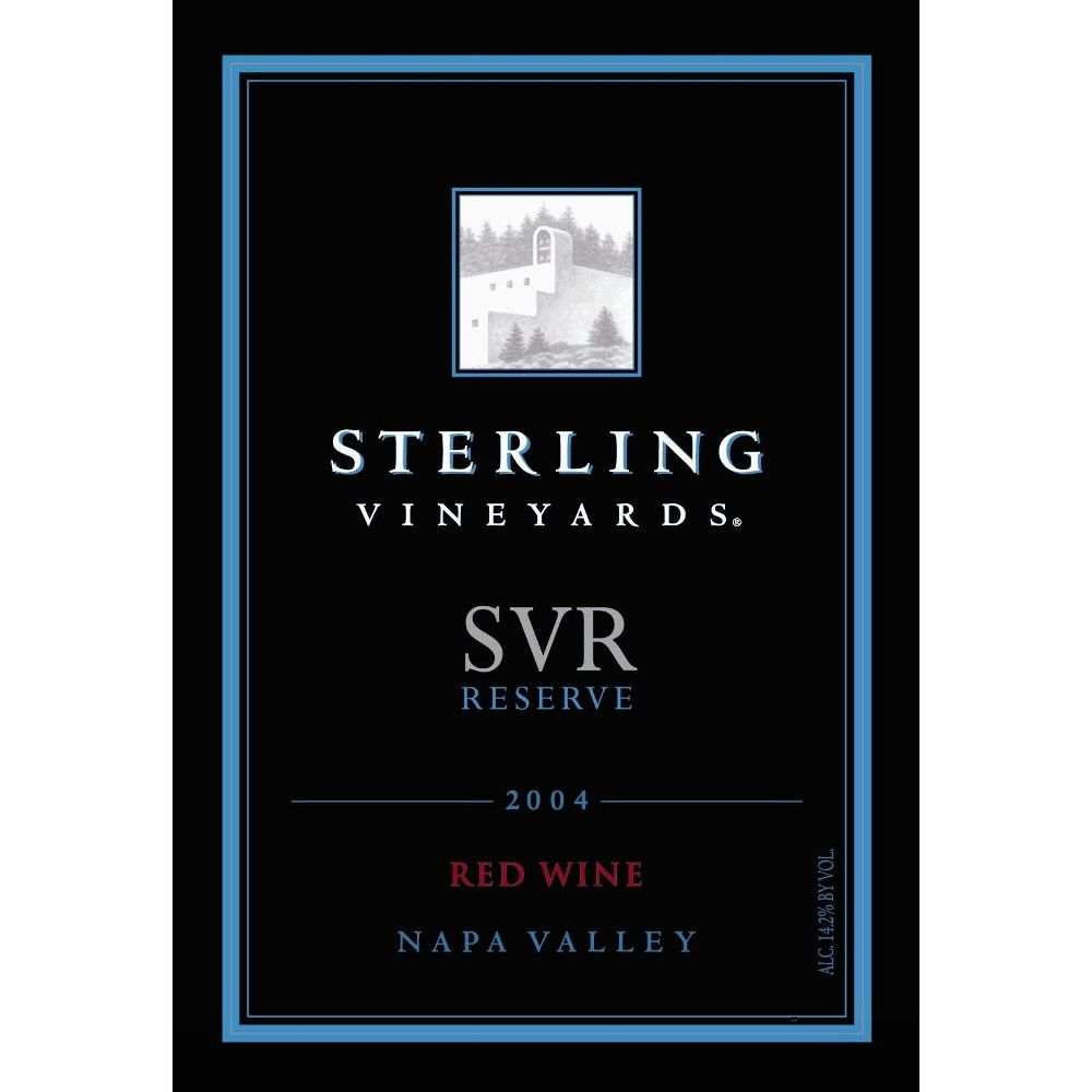 Sterling SVR Reserve 2004 Front Label