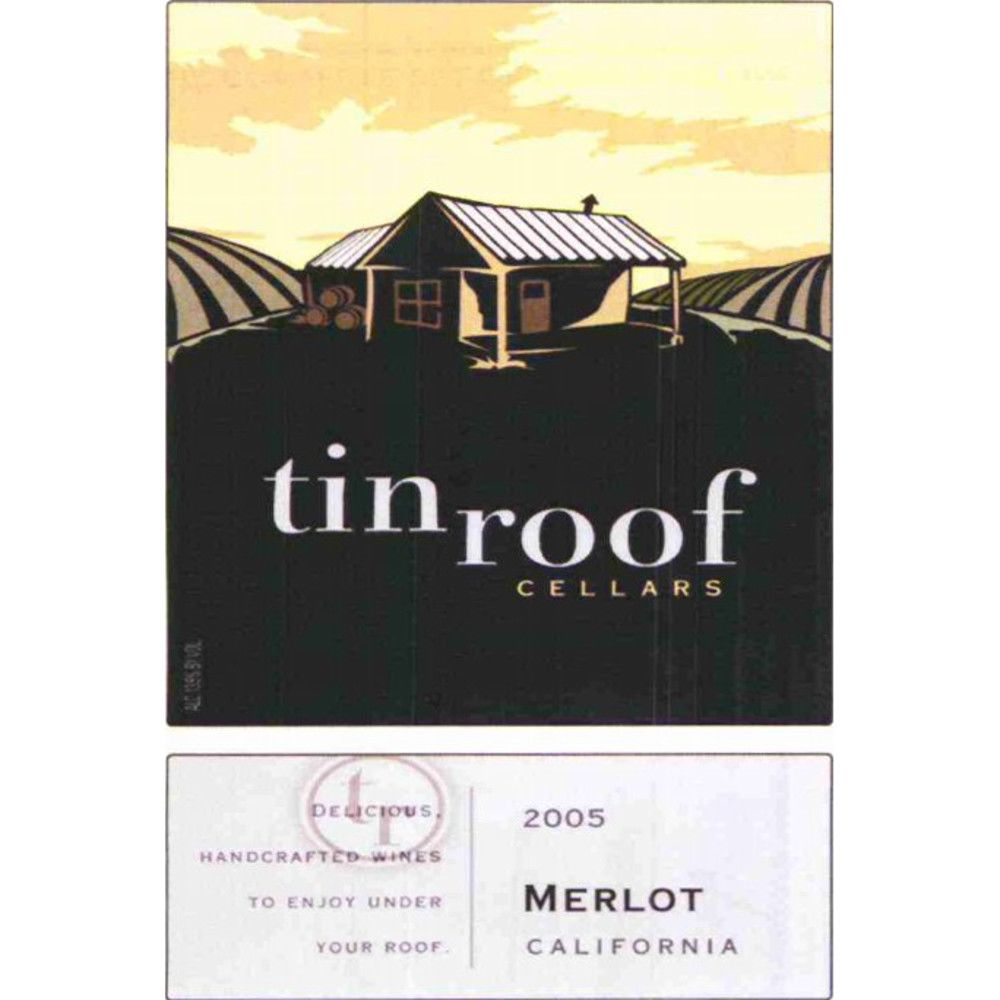 Tin Roof Merlot 2005 Front Label