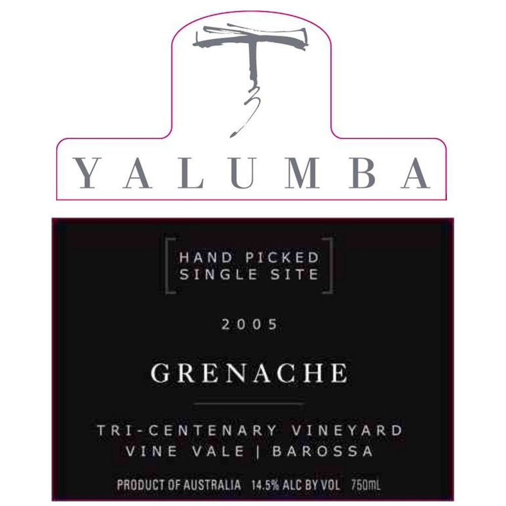Yalumba Tri-Centenary Vineyard Grenache 2005 Front Label