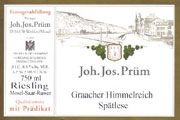 J.J. Prum Graacher Himmelreich Spatlese Riesling 2004 Front Label