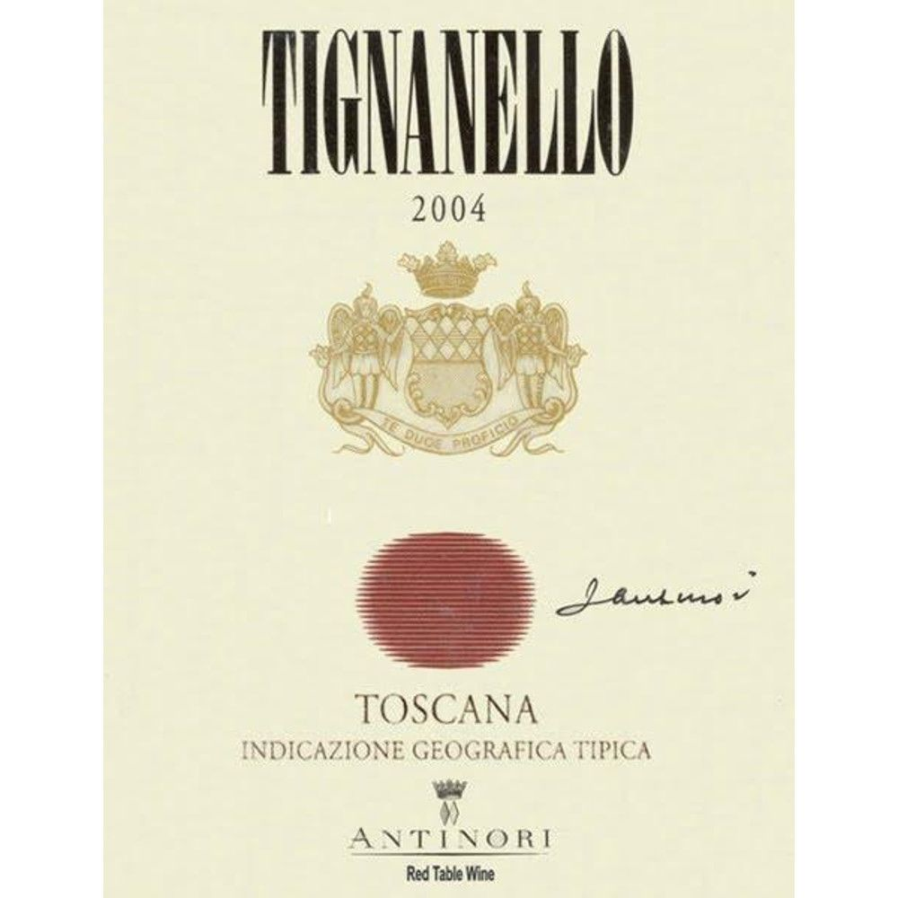 Antinori Tignanello (3 Liter Bottle) 2004 Front Label