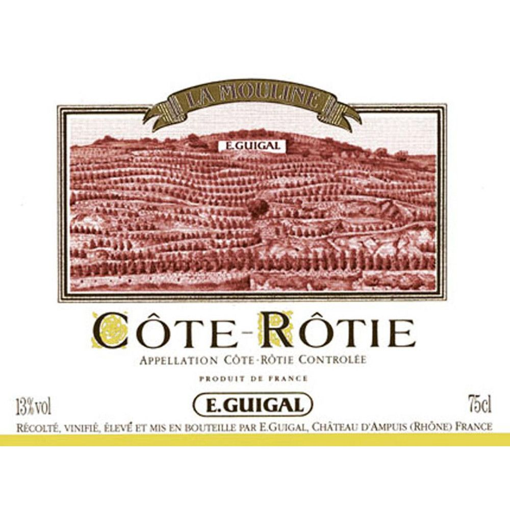 Guigal La Mouline Cote Rotie 1996 Front Label