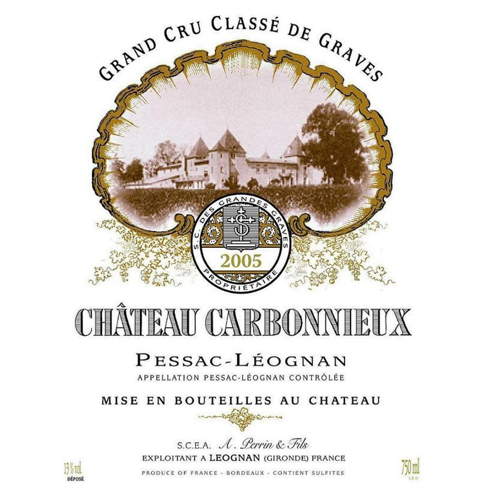 Chateau Carbonnieux Blanc 2005 Front Label