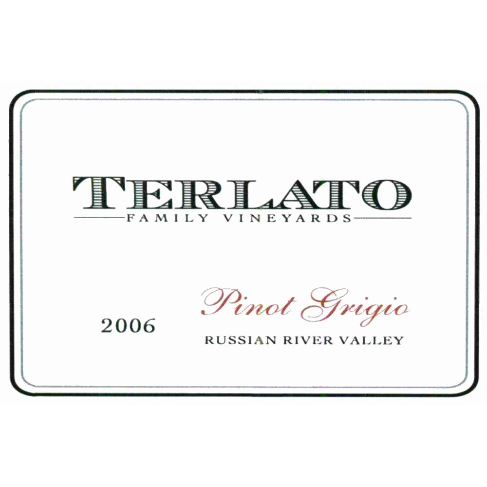 Terlato Family Vineyards Pinot Grigio 2006 Front Label