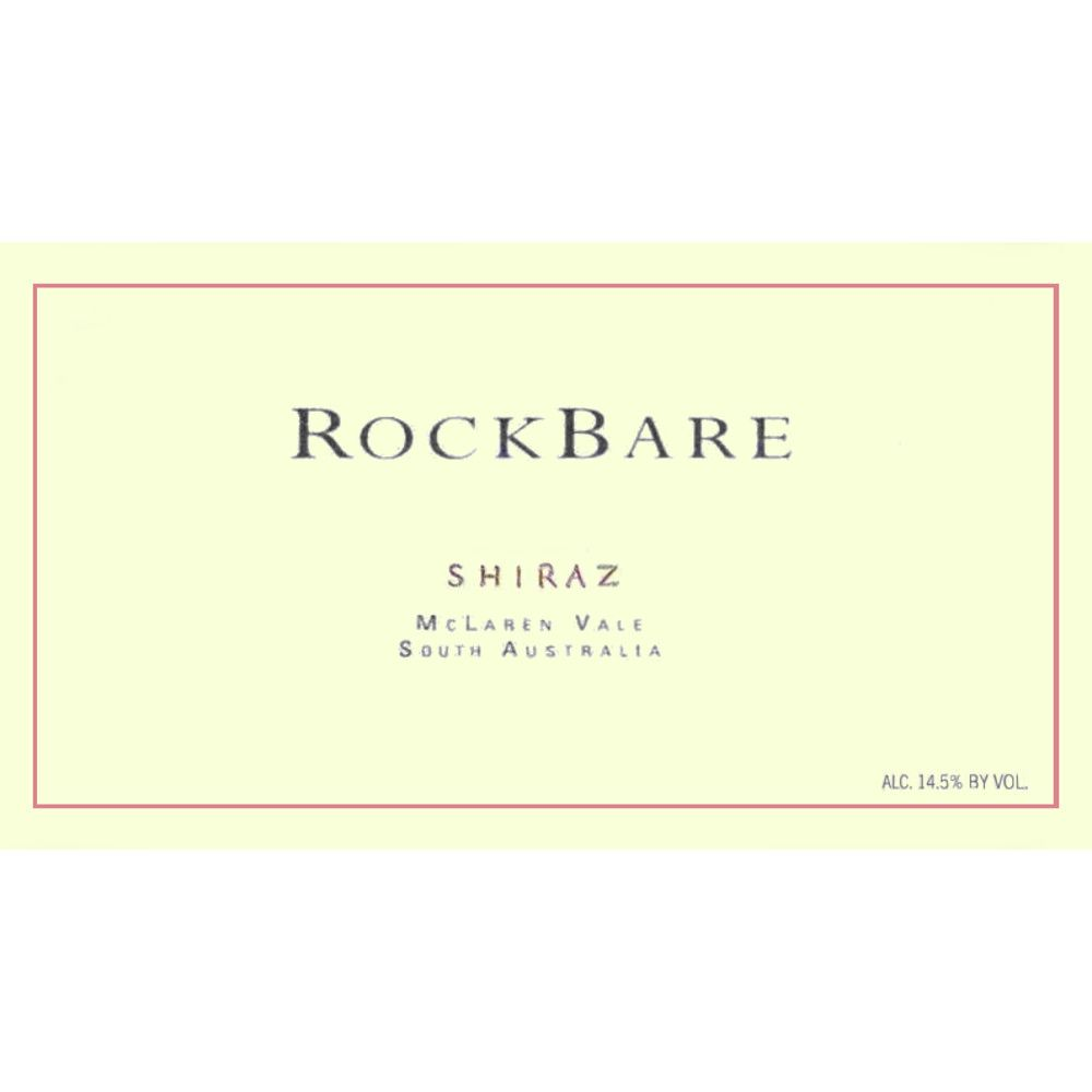 RockBare Shiraz 2006 Front Label
