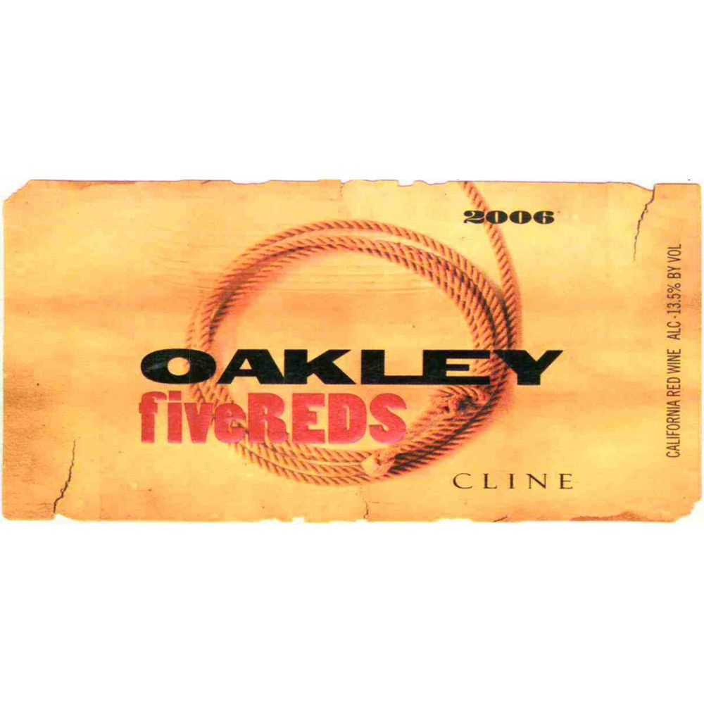 Cline Oakley Five Reds 2006 Front Label