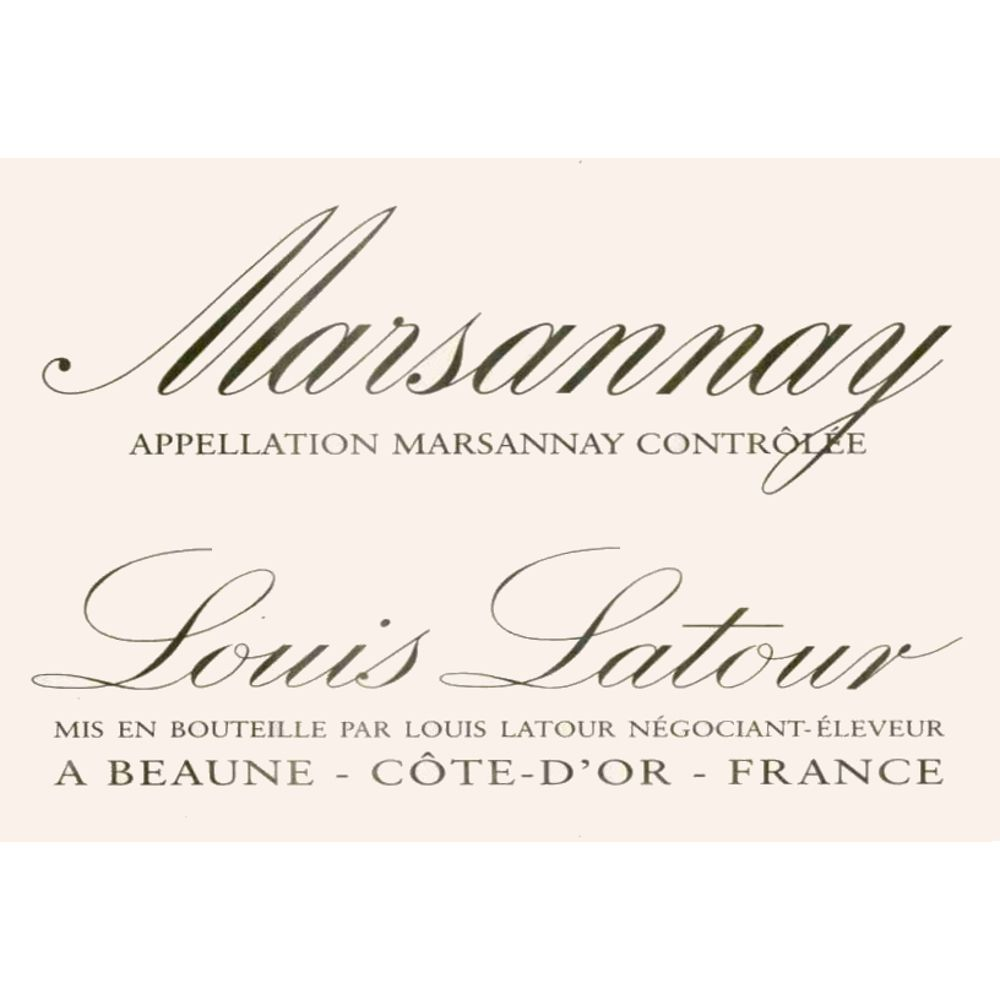 Louis Latour Marsannay Rouge 2005 Front Label