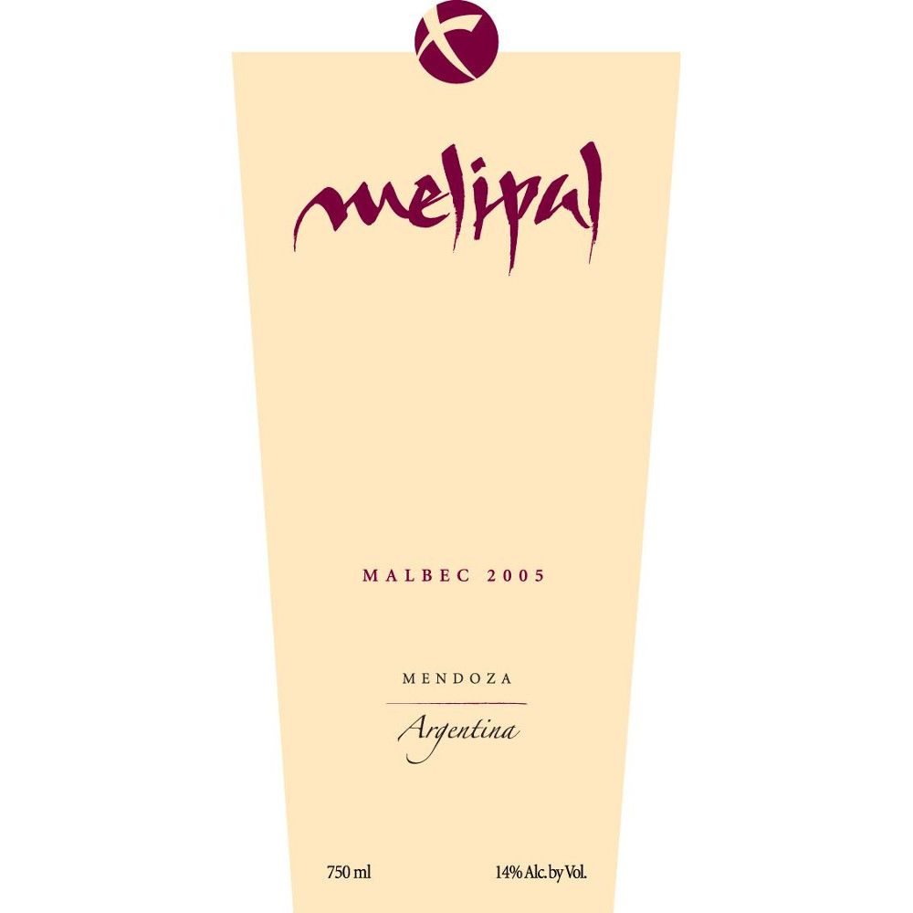 Melipal Malbec 2005 Front Label