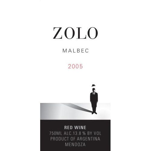 Zolo Malbec 2005 Front Label
