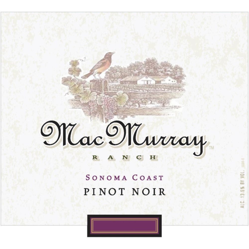 MacMurray Ranch Sonoma Coast Pinot Noir 2006 Front Label