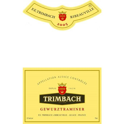 Trimbach Gewurztraminer 2005 Front Label