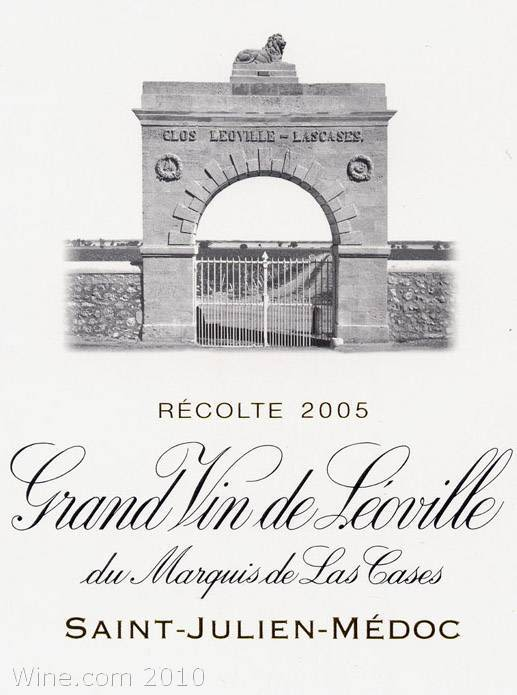 Chateau Leoville Las Cases  2005 Front Label