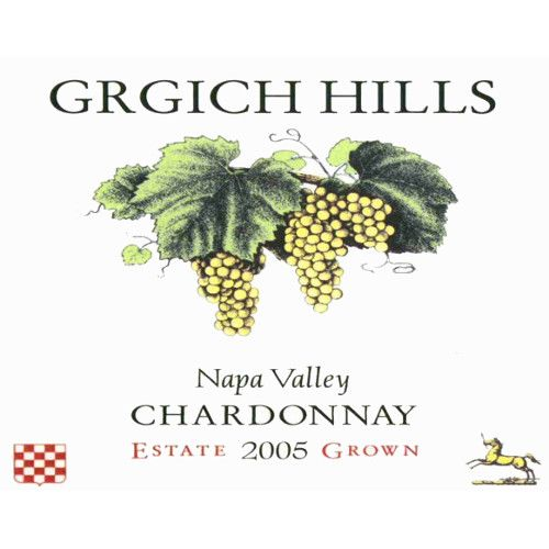 Grgich Hills Estate Chardonnay (half-bottle) 2005 Front Label