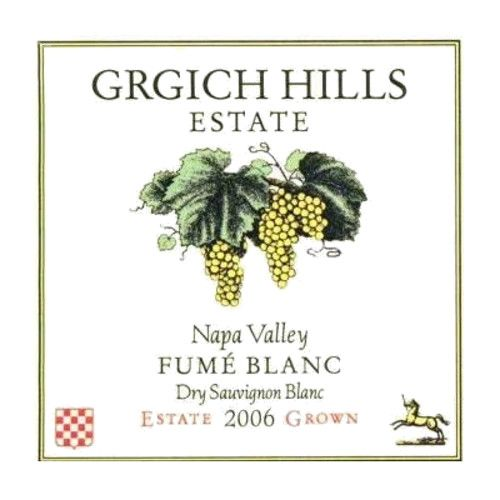 Grgich Hills Estate Fume Blanc (375ML half-bottle) 2006 Front Label