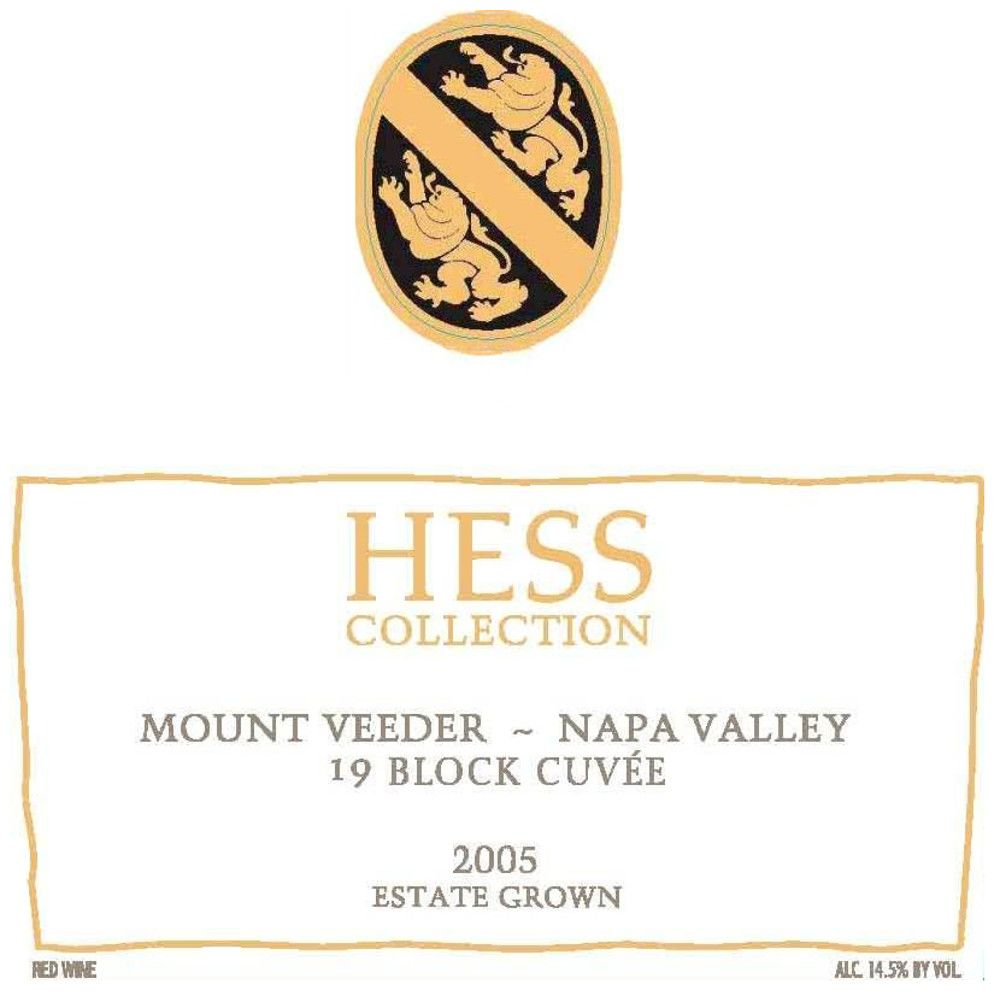Hess Collection 19 Block Cuvee Mt Veeder 2005 Front Label