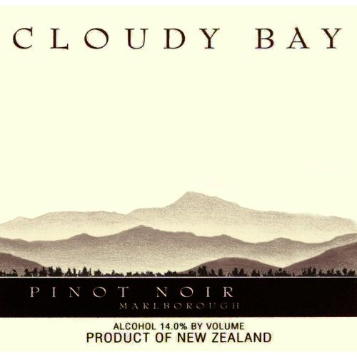 Cloudy Bay Pinot Noir 2006 Front Label