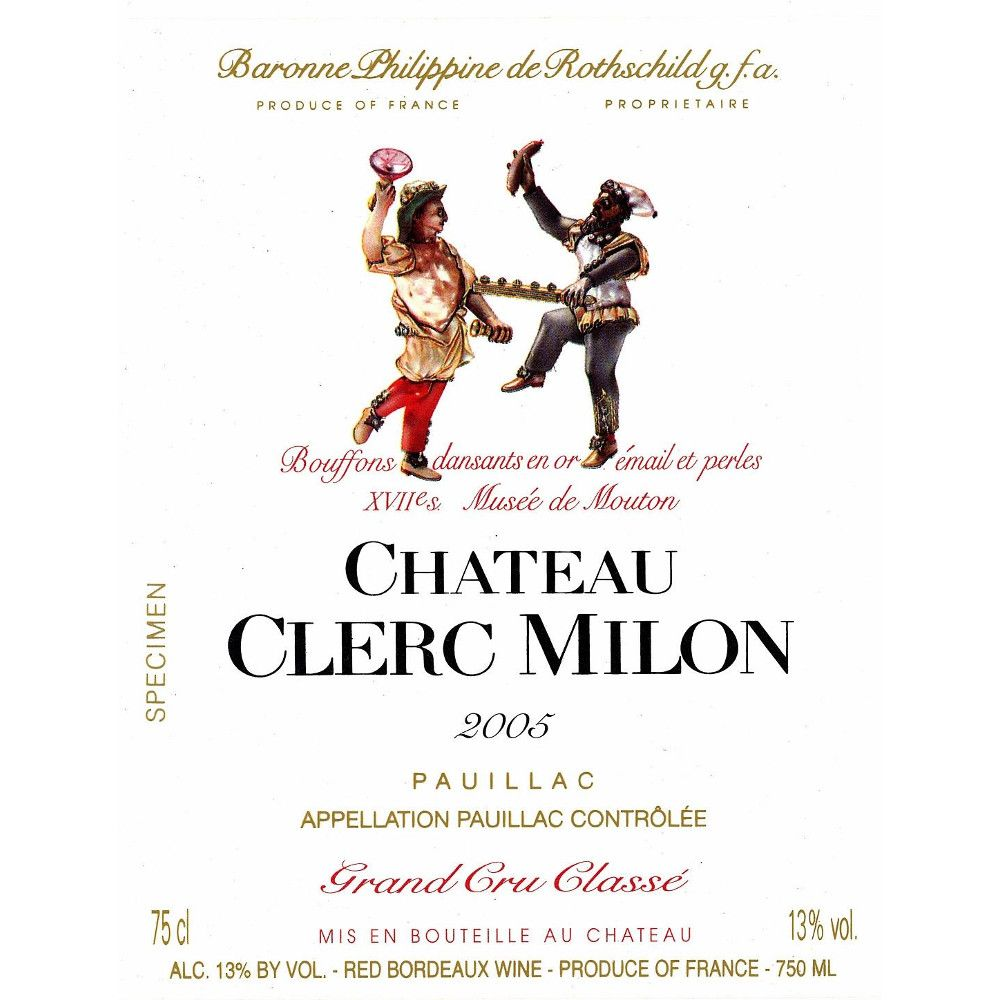 Chateau Clerc Milon  2005 Front Label