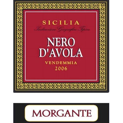 Morgante Nero d'Avola 2006 Front Label