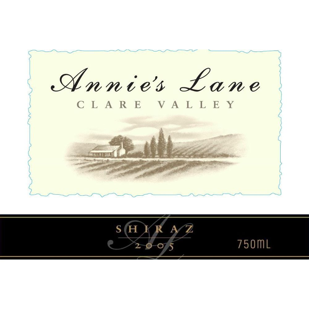 Annie's Lane Shiraz 2005 Front Label