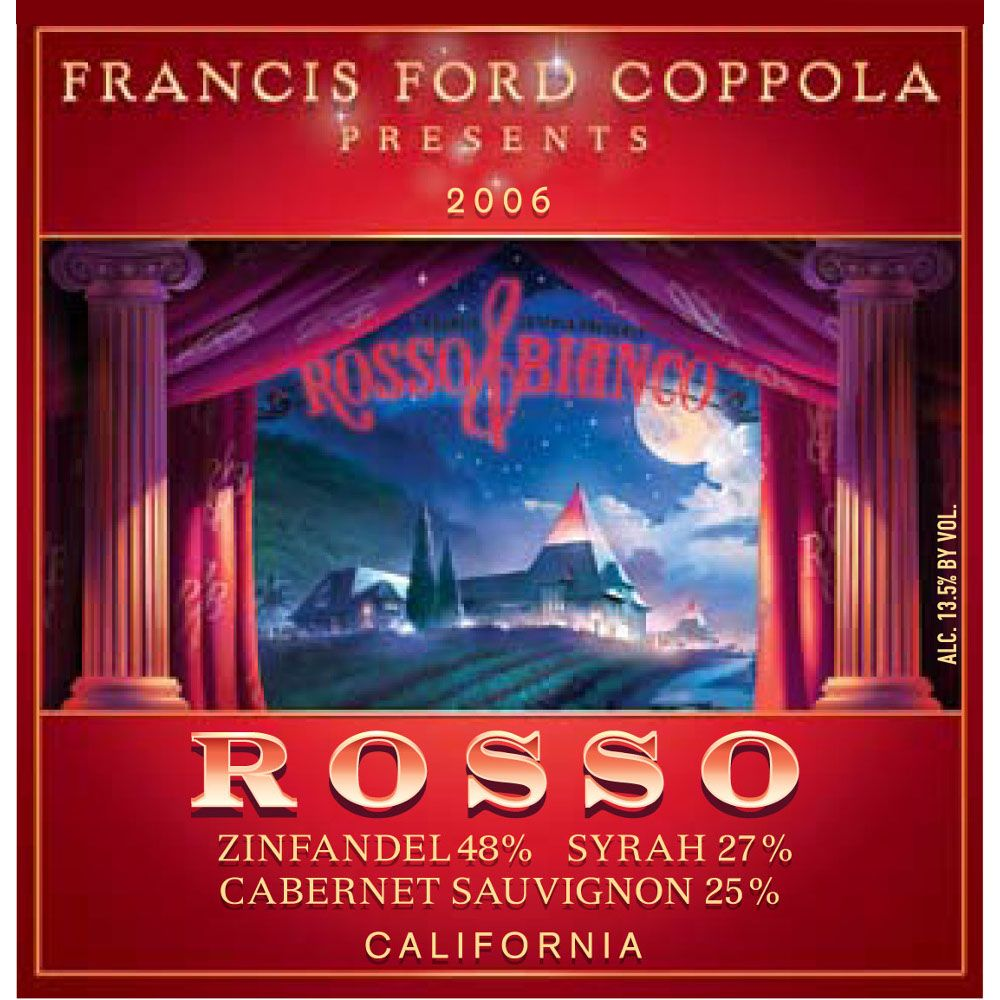 Francis Ford Coppola Rosso 2006 Front Label