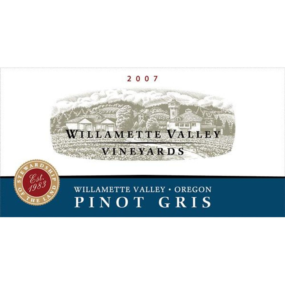 Willamette Valley Vineyards Pinot Gris 2007 Front Label