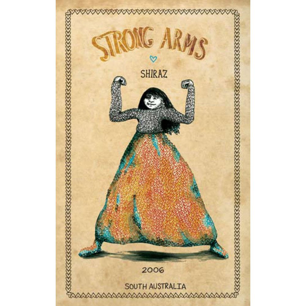 R Wines Strong Arms Shiraz 2006 Front Label