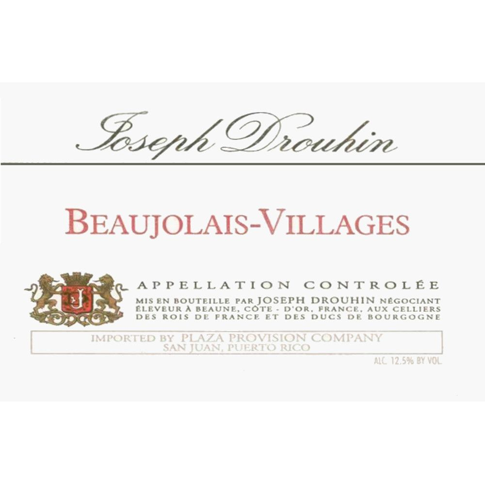 Joseph Drouhin Beaujolais Villages 2006 Front Label